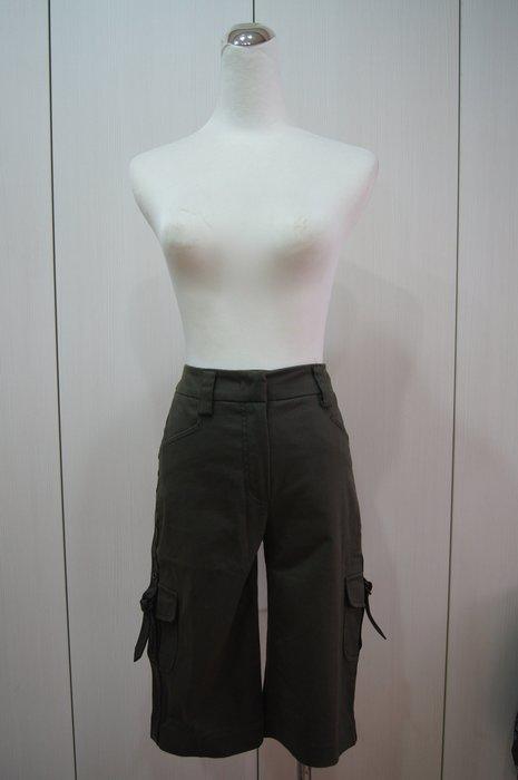 ICEBERG  墨綠色側皮帶飾短褲         特價  4500