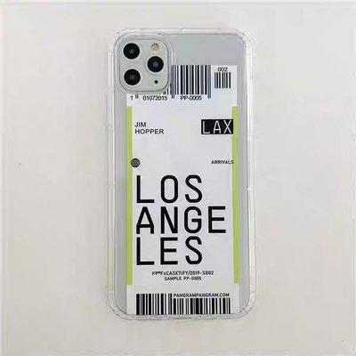 LA登機票iPhone透明手機殼