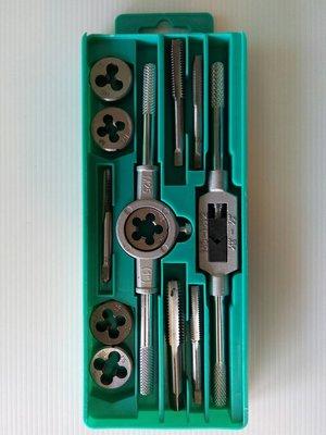 附發票(東北五金)正台灣製 絲攻組(12pcs) M6-M12 螺絲攻牙組 (螺絲攻螺模組) 攻牙器 特價優惠!