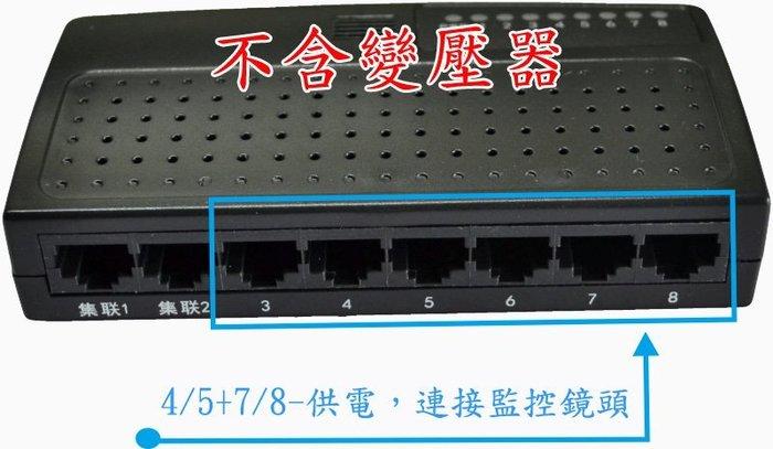 6+2路【POE供電交換機】8PORT POE Switch 可加購POE分離器 變壓器 監視器