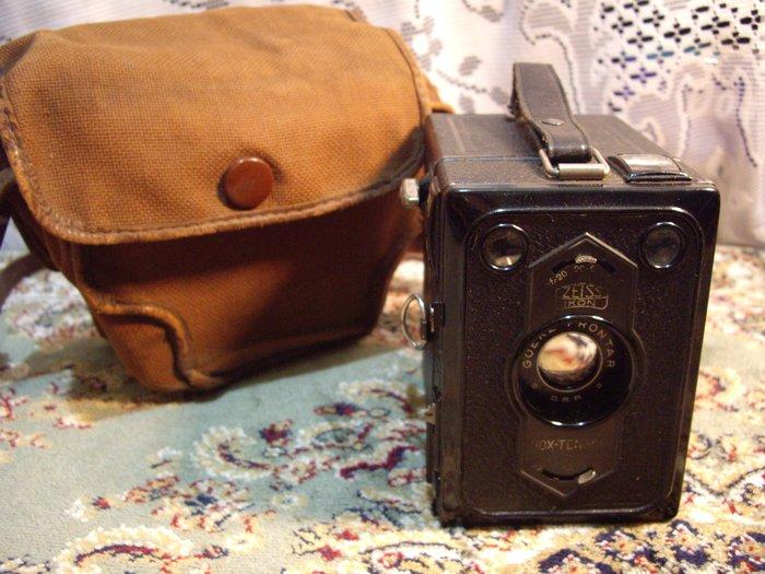 歐洲古物時尚雜貨 古董相機 箱型Zelss老相機 附相機袋 擺飾品 古董收藏