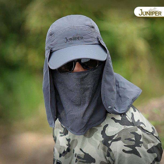 預售款-LKQJD-釣魚帽子男士防曬帽遮臉防紫外線太陽帽夏天遮陽帽登山帽女戶外