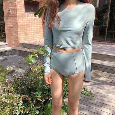 韓國新款長袖鋼托聚攏時尚修身顯瘦保守性...