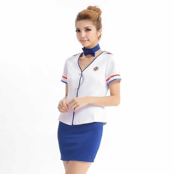 華麗空姐服制服角色扮演服COSPLAY(共3色) 派對表演服