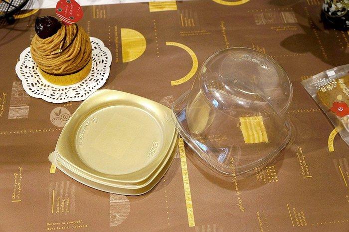 塑膠盒_BP3567高蓋金底_20入_BP3567-2◎圓形.蛋糕盒.塑膠盒.置物盒.金底.嵌合