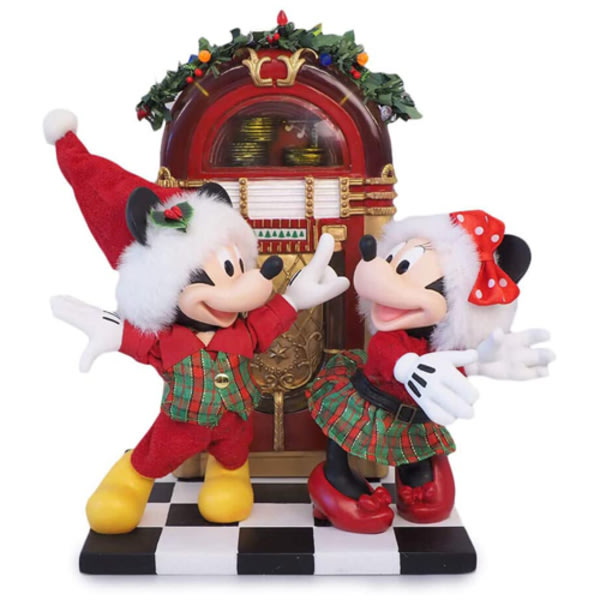 🗽Dona美國代購🗽預購 Enesco 迪士尼米奇米妮聖誕節點唱機 小夜燈 塑像 公仔擺飾裝飾