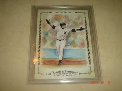 美國職棒 Yankees Manager Aaron Boone 09 Topps Allen & Ginter球員卡