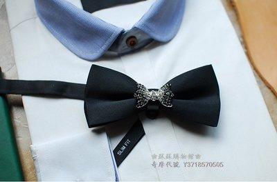 ❀蘇蘇購物館❀時尚合金漸變水鑽結婚領結煲汰時尚西歐聚會PARTY禮物