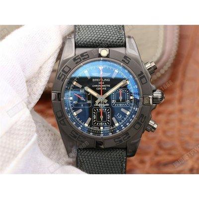GF Breitling 百年靈 機械計時系列MB0111C3 44mm黑鋼腕表 黑色面