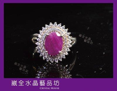 【崴全水晶】天然 莫桑比克 紅寶石 戒指 【2.8cts】