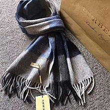 美國大媽代購 Burberry 專櫃新款 商務時尚新寵 男款大氣羊毛絨圍巾 披肩 保暖必備 歐美代購