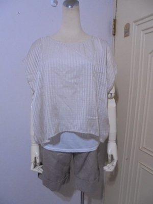 全新附吊牌日本Lowrys farm品牌可可金色連袖假兩件式雪紡衫M號(適M~L)*250元直購價*