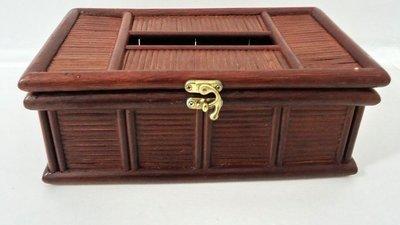 香河竹藝行~~~竹編傳統復古面紙盒紙巾盒