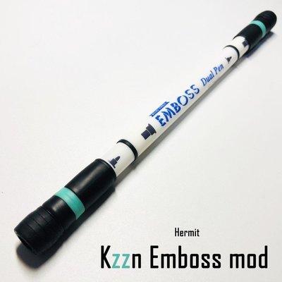 【心海】爆款新品限量搶購安爺筆鋪 Kzzn emboss mod 真桿真膠 轉筆專用筆 暴力神器 送管