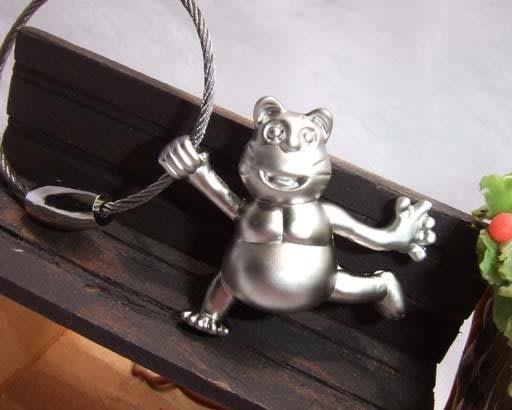 ☆創意小物店☆ 可愛小貓 鋼絲鎖鑰匙扣 /創意可愛金屬鑰匙圈 時尚造型個性飾品