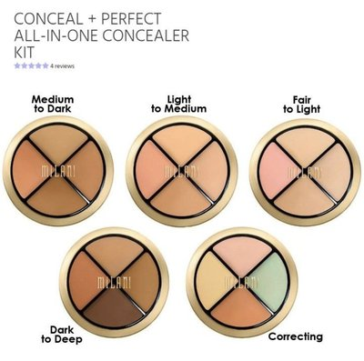 【La Paloma代購】MILANI Conceal Perfect ALL IN ONE 遮瑕盤 膚色校正盤 預購