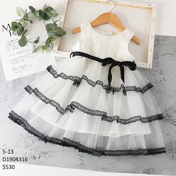 【Girl】 JC BABY 甜美花邊拼接洋裝(圖片色) #D1904316