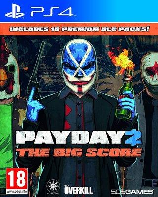 全新未拆 PS4 劫薪日2: 大幹一票 -英文版- Payday 2 The Big Score