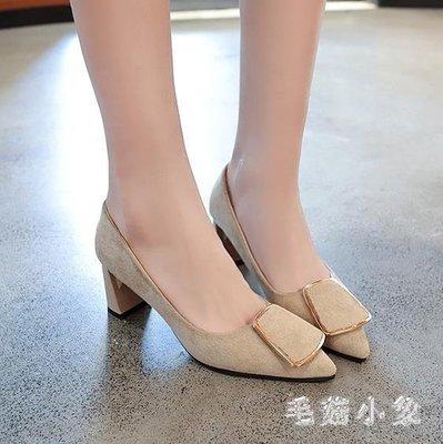ZIHOPE 大尺碼女鞋 女2019春季新款韓版百搭學院風厚底智熏鞋高跟鞋ZI812