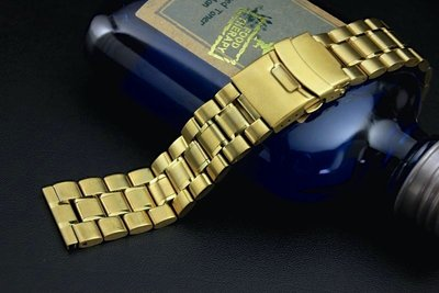 20mm金色超值亞米家sea master海馬風格平頭實心不鏽鋼錶帶speed master,替代各品牌同規格錶帶
