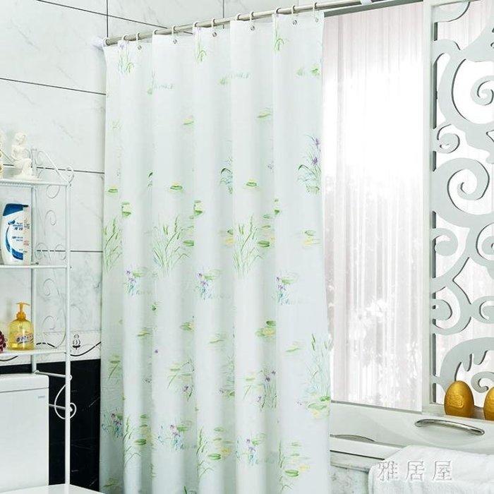 防霉防水加厚浴簾布田園浴室隔斷簾子門簾拉簾窗戶掛簾 YC435
