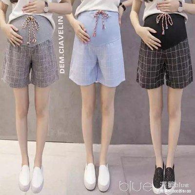 夏天薄款孕婦短褲夏季款時尚潮媽夏裝外穿寬鬆寬管褲褲子