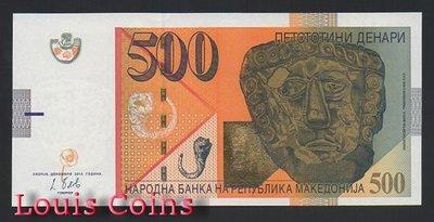 【Louis Coins】B617-MACEDONIA--2014馬其頓紙幣500 Denari