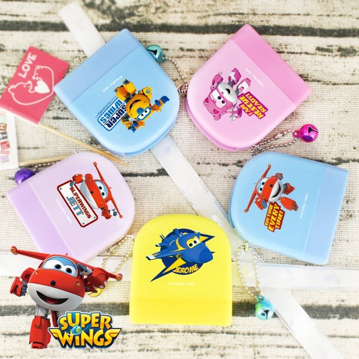熊爸印&貼 正版授權 SUPER WINGS 超級飛俠 卡通正版姓名彩盒印章 家長簽章姓名印章 連續印章 玩具