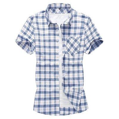 男人本鋪 26/3 18C6 JDT009 簡約百搭 歐美風 加大加肥 短袖襯衣 多色選 有大碼