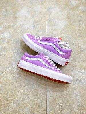 秋冬上新Vans Style 36系列采用高檔麂皮加帆布打造 神仙配色香芋紫 GD權志龍同款  帆布鞋 板鞋 情侶款