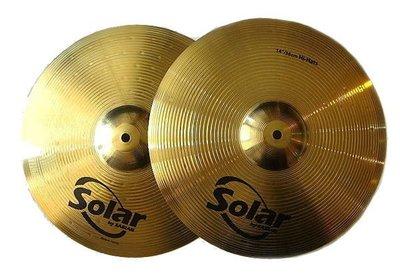 """*雅典樂器世界*全新 爵士鼓 銅鈸 SABIAN Solar 14"""" Hi-Hats 14吋"""