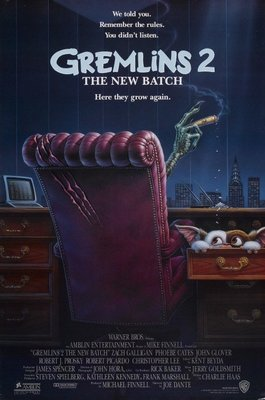 小精靈2-Gremlins 2: The New Batch (1990)(摺式)原版電影海報