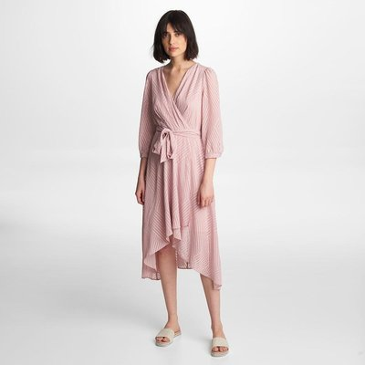 Karl Lagerfeld Paris GEO JACQUARD WRAP DRESS ENGLISH ROSE