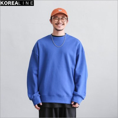 搖滾星球韓國代購 圓領寬版衛衣 / 5色 BS8284
