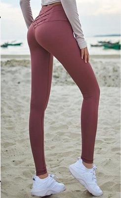 蜜桃臀瑜伽女緊身彈力健美褲速干提臀高腰運動褲健身長褲跑步外穿EASY13680
