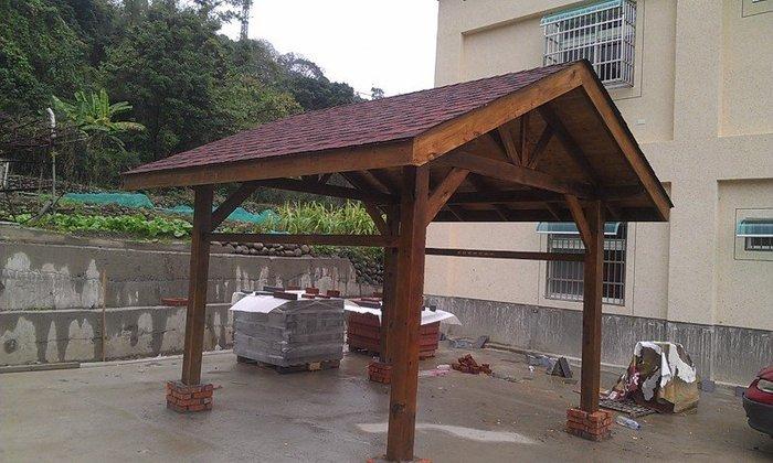 (尚霖木作工程館) 木製 涼亭 發呆亭 (HC000)