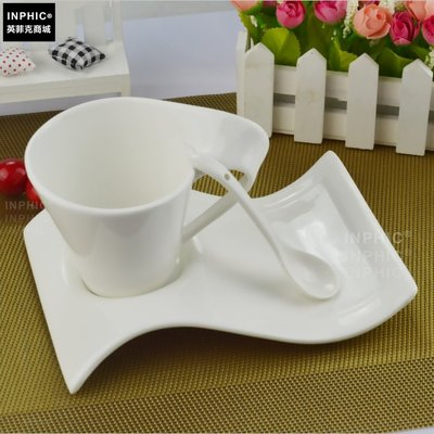 INPHIC-200ml波浪咖啡杯西餐廳咖啡杯奶茶杯牛奶杯水杯_S01860C