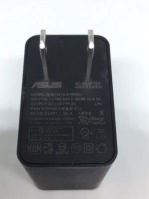 ASUS華碩 5V / 2A(W12-010N3A) 原廠旅行充電器 手機充電器/ USB旅充頭(附實測圖)