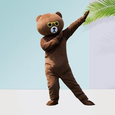 人偶服裝抖音熊網紅熊人偶服裝布朗熊行走衣服成人卡通傳單玩偶服頭套道具悠悠