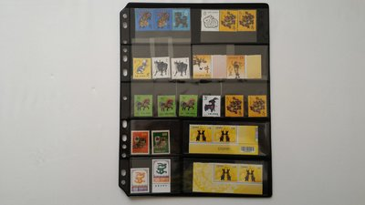 P05 郵票用 黑卡內頁 5格