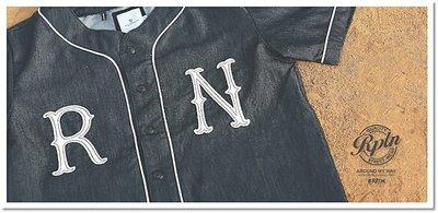 REPUTATION Denim Baseball Shirt 復古單寧牛仔棒球衫S號