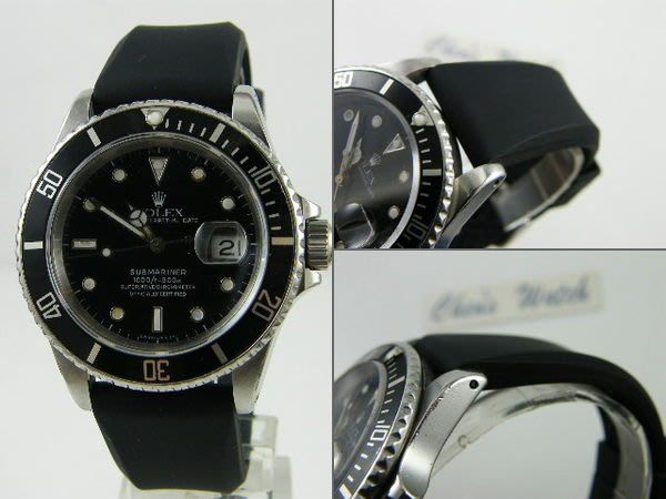 【錶帶家】22mm 或 20mm 代用 Rolex 勞力士 ORIS SEIKO ARMANI 樣式素面高級矽膠錶帶
