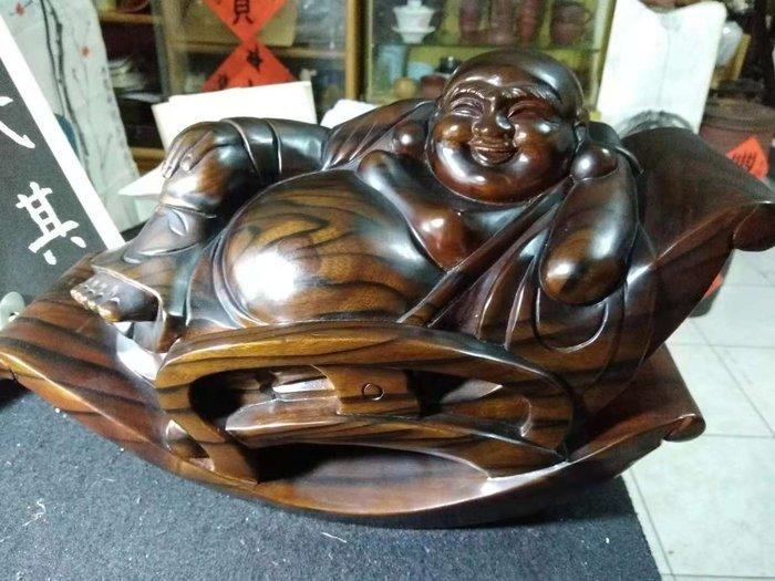 【茶墨相濡】特賣 ☆木雕☆ 精雕彌勒佛22