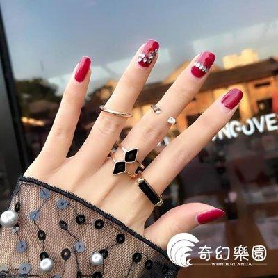 [免運]戒指-戒指女個性時尚關節幾何混搭戒Chic冷淡風食指戒—印象良品
