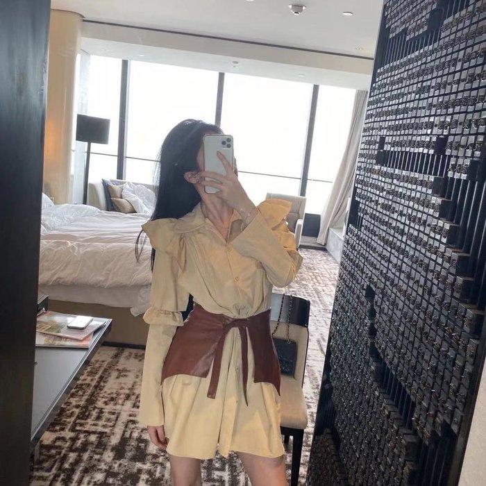 PapaDarling 20SSw 韓劇熱播女主角款式 俏皮公主袖長袖襯裙 連身裙 (含腰封)