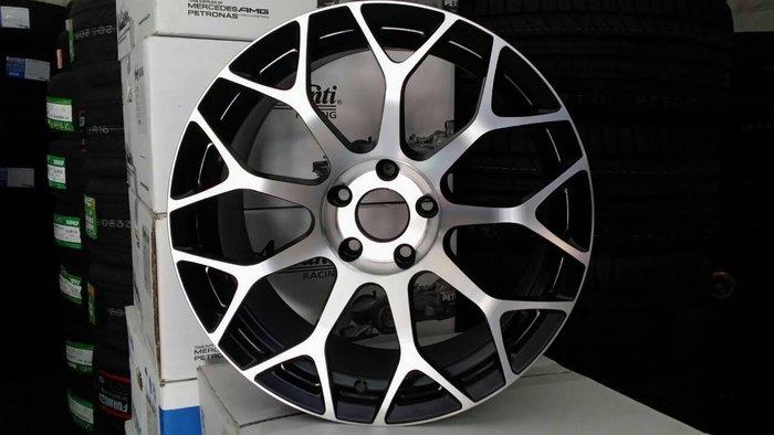 【AS輪胎】HS-801 黑底車亮面 樹枝狀 18吋 5*114 外銷圈 非ENKEI BBS AC