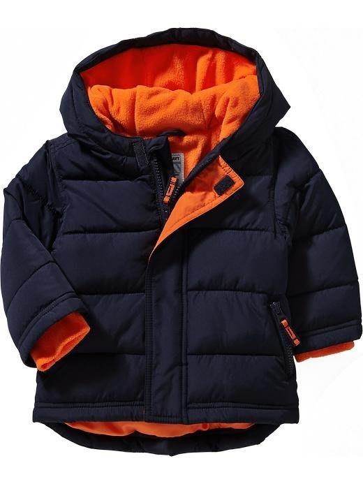 【BJ.GO】美國OLD  NAVY 童裝_Frost Free Jacke 帥氣毛絨襯裡保暖連帽外套 現貨18-24M
