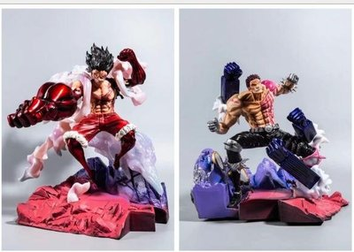 【紫色風鈴3】海賊王GK 卡二 卡塔庫栗 對戰VS 蛇人 魯夫 雕像模型盒裝  港版