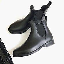 歐美街拍 霧面高質感鬆緊套腳防滑雨鞋 雨靴 大尺碼35-42
