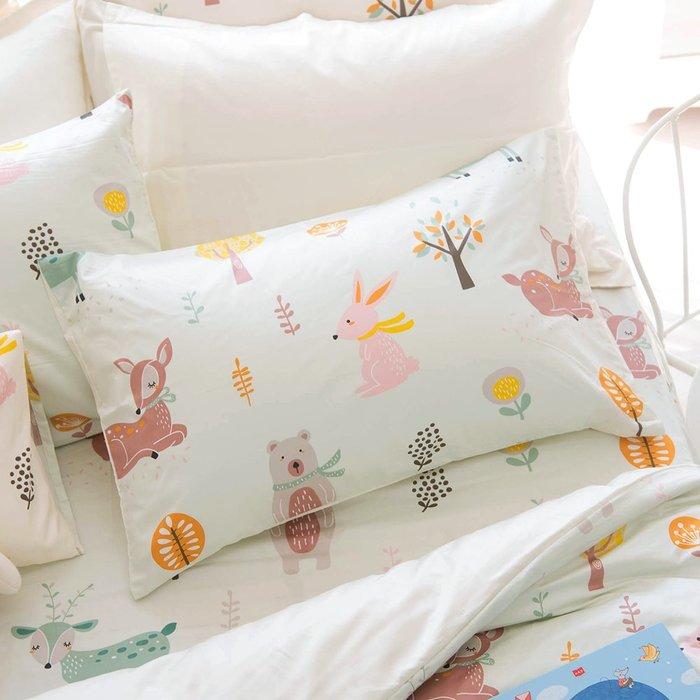 【OLIVIA 】DR920 小森林 綠 標準單人床包美式枕套兩件組 【不含被套】300織精梳純棉 童趣系列 台灣製
